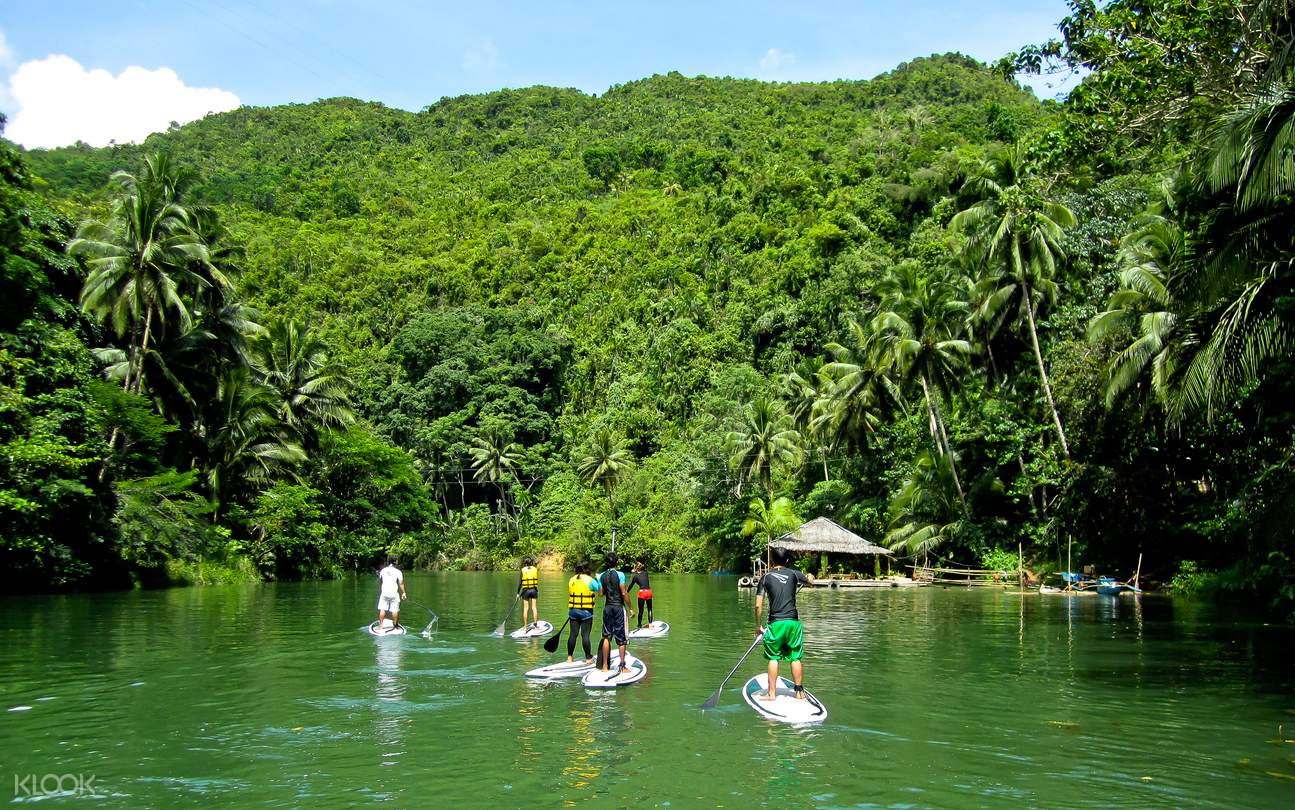 river paddle boarding, Bohol, Philippines