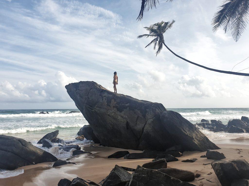 Frog rock, Unawatuna, Sri Lanka