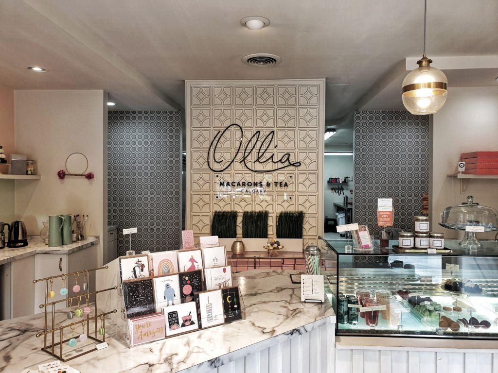 Ollia Macarons and tea, Calgary, Canada