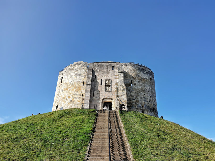 Cliffords Tower, York, Yorkshire, England, UK