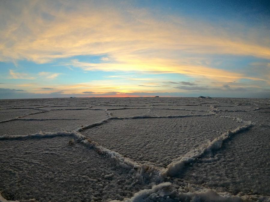 Salt Flat-Bolivia-Sunset